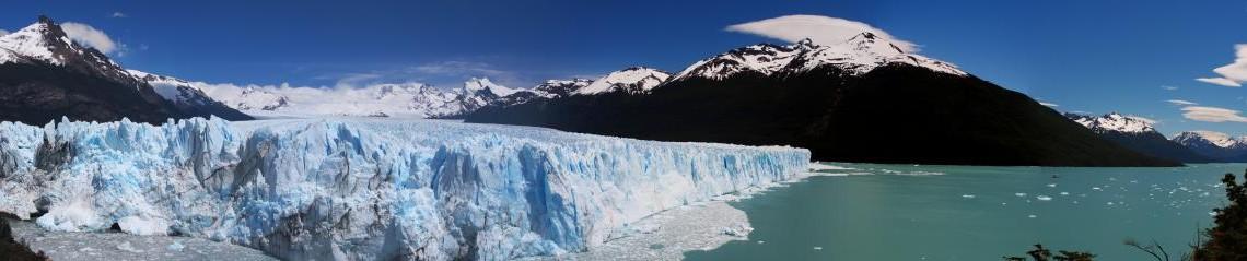 Panoramablick über den Perito Morenos - El Calafate